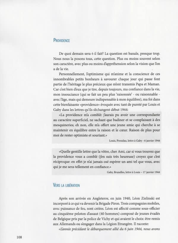 La Liberté et la Tendresse en Héritage - page 108