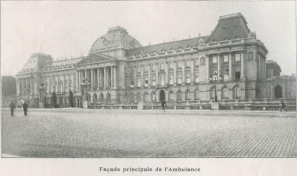 Le Palais Royal de Bruxelles - Façade principale de l'Ambulance
