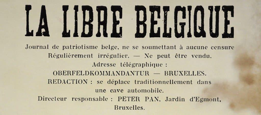 La Libre Belgique clandestine (Peter_Pan) -1941